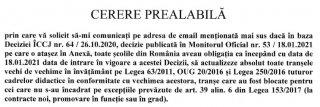 Șoc! MEN spune că data de intrare în vigoare a DECIZIEI ÎCCJ nr. 64/2020 nu reprezintă o informație publică.