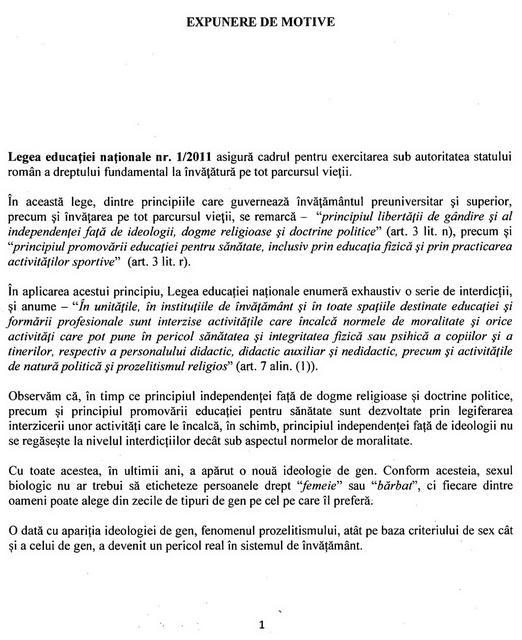 Proiect de lege pentru interzicerea ideologiei de gen în şcoală adoptat de Camera Deputaţilor